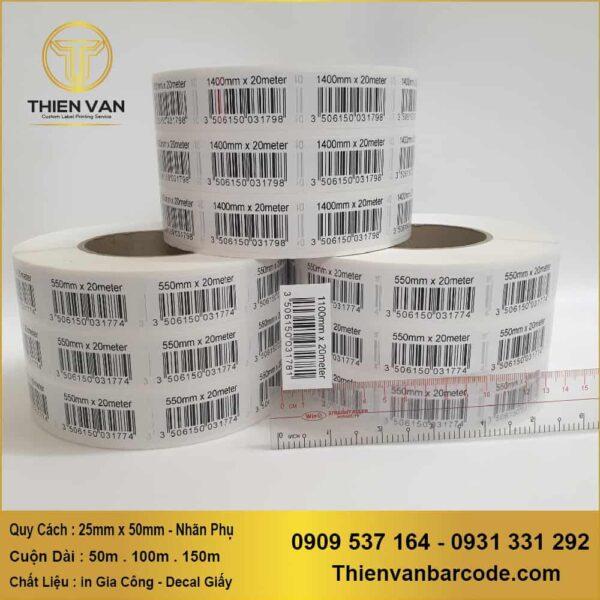 25mm X 50mm Nhãn Phụ ( In Gia Công Decal Cuộn ) (1)