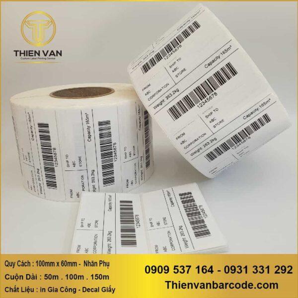 100mm X 60mm Nhãn Phụ ( In Gia Công Decal Cuộn ) (1)